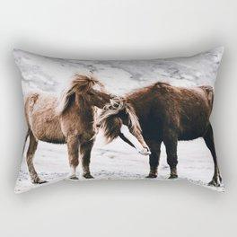 Wild Horses III / Iceland Rectangular Pillow
