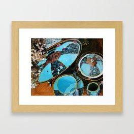 Majolica and Hydrangea Framed Art Print