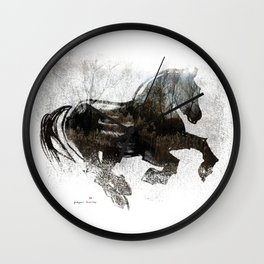 Horse (Winter Canter) Wall Clock