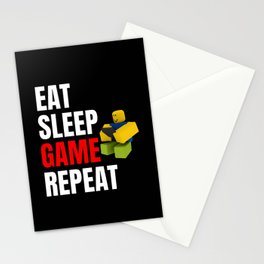 Roblox Eat Sleep Game Repeat Noob Stationery Cards