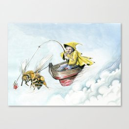 Bee Boating Canvas Print