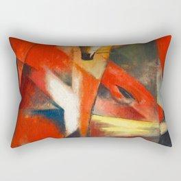 Franz Marc The Foxes Rectangular Pillow