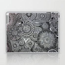 White Pen Mandala Collage Laptop & iPad Skin
