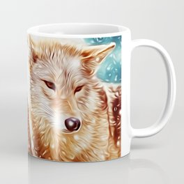 Lovely Wolf Couple Under the Snow Coffee Mug