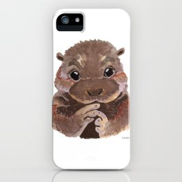 Otter animal marten swimming water present iPhone Case
