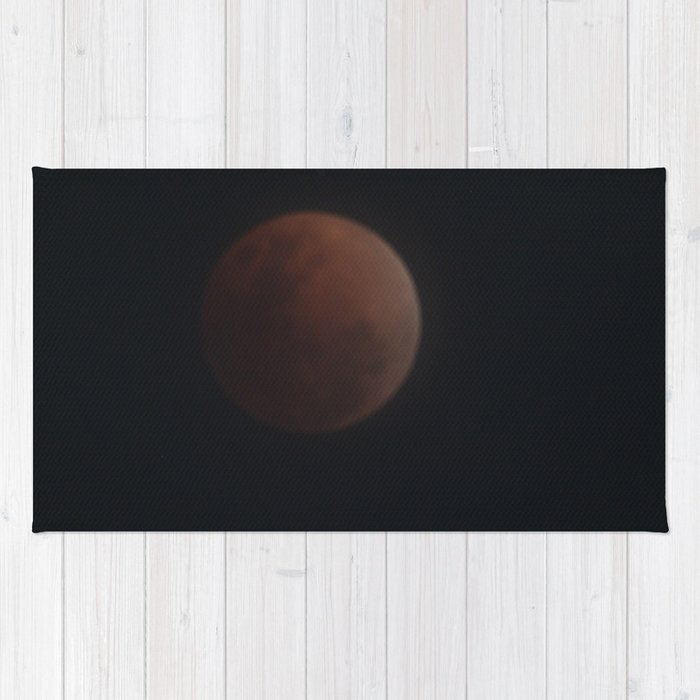 Blood Moon under Clouds Rug