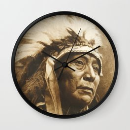 Chief Running Antelope - Native American Sioux Leader Wall Clock