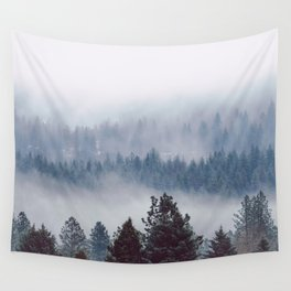 Blue Mountain Mist - Nature Photography Wall Tapestry