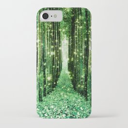 Magical Forest Green Elegance iPhone Case