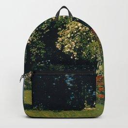 Claude Monet - Woman in the Garden.jpg Backpack