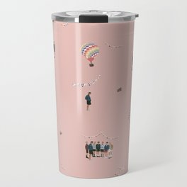 BTS Young Forever Pattern - Pink Travel Mug
