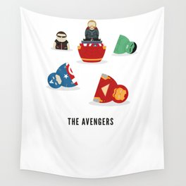 The Avengers open Russian doll illustration Wall Tapestry