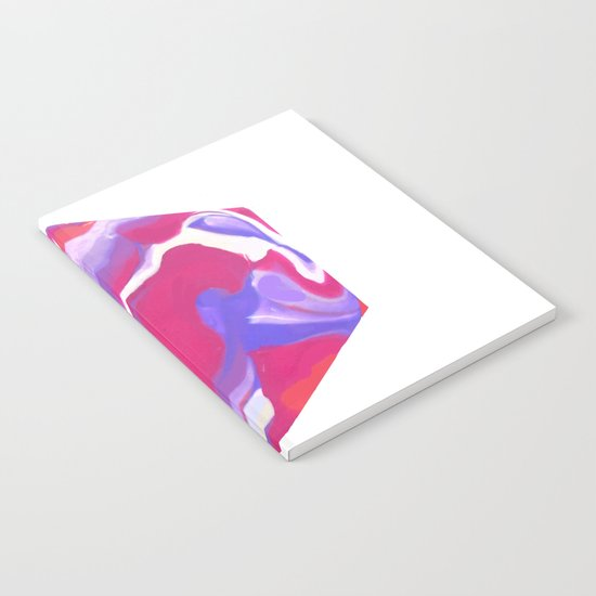 Marbling Purple Hexagon Notebook