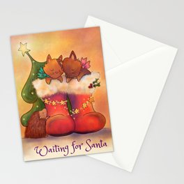 Waiting for Santa Stationery Cards