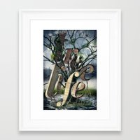 tree of life Framed Art Prints featuring Tree Life by LOOSE GERMS