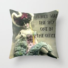Janet: Vintage Darling Throw Pillow
