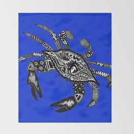 Maryland Blue Crab graffiti Throw Blanket
