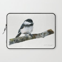 Black-capped Chickadee by Teresa Thompson Laptop Sleeve