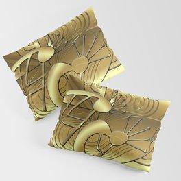 Magical Kokopelli in Gold Pillow Sham