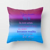 dr seuss Throw Pillows featuring Dr. Seuss Quote by Laura Santeler