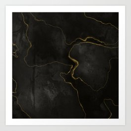 Elegant Black Onix Art Print