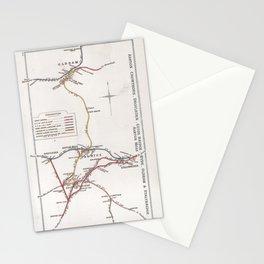 Railway Junction Diagram (1914) 032 - Oldham, Ashton, Stalybridge Stationery Cards