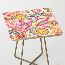 Butterflies and Fowers Side Table