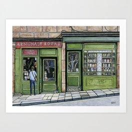 Armchair Books Art Print