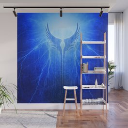 Vikings Valkyrie Wings of Protection Storm Wall Mural