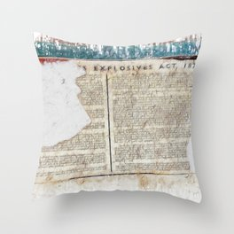 Explosive 1875  Throw Pillow
