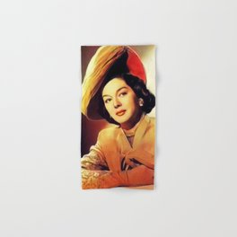 Rosalind Russell, Vintage Actress Hand & Bath Towel