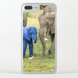 Its a Boy - Blue Baby Elephant Clear iPhone Case