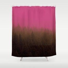 Pink & Chocolate Taffy Fog - Seward, Alaska Shower Curtain