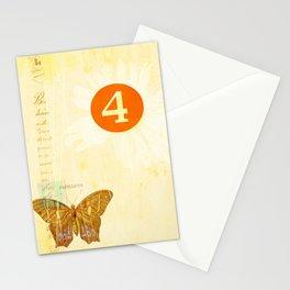 4 oclock butterfly  Stationery Cards