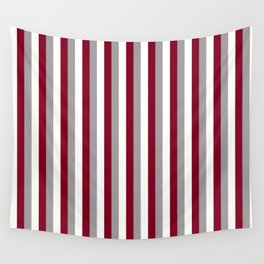 Team Colors 4... Maroon,white and gray Wall Tapestry