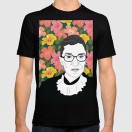 Ruth Bader Ginsburg Floral T-shirt