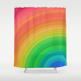 Bright Rainbow | Abstract gradient pattern Shower Curtain