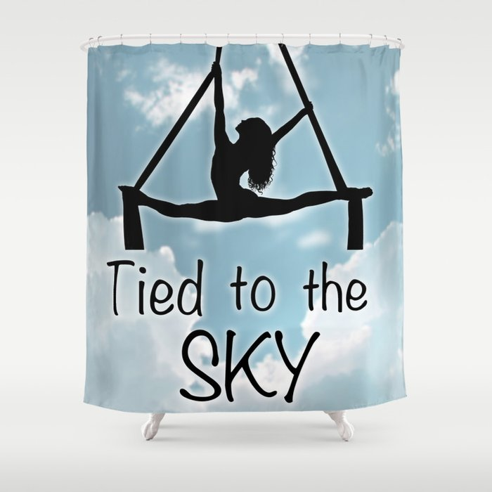 Aeiralist Tied To The Sky Graphic Shower Curtain