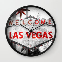 Fabulous Las Vegas Sign Scratched Aged  Wall Clock