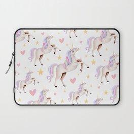 Rainbow Unicorns — Hearts & Stars Laptop Sleeve