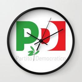 Partito Democratico 2018 For Dark Colors Wall Clock