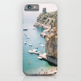 Beach between Amalfi and Positano | Southern Italy Travel | Mediterrenean Coast Photography iPhone Case