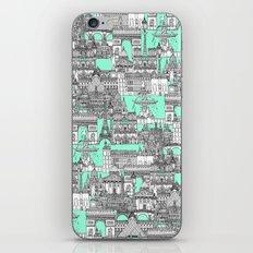 Paris toile aquamarine iPhone & iPod Skin