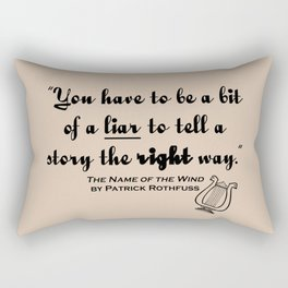 Storytelling Lies - Name of the Wind Rectangular Pillow