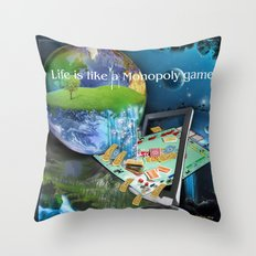 Life is like a Board Game Throw Pillow