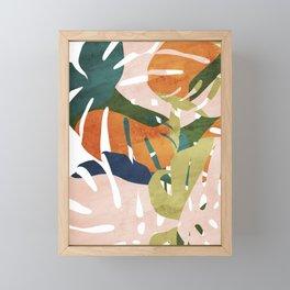 Monstera delight Framed Mini Art Print