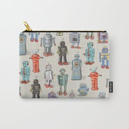 Vintage Style Robot Collection Carry-All Pouch