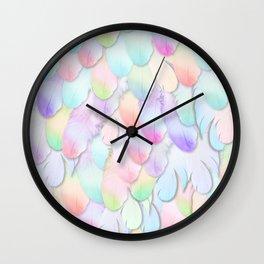 PARADISE RAINBOW FEATHERS Wall Clock