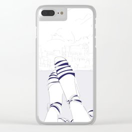 Espadrilles in Italy Clear iPhone Case