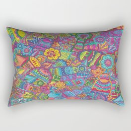 rainbow zentangle Rectangular Pillow